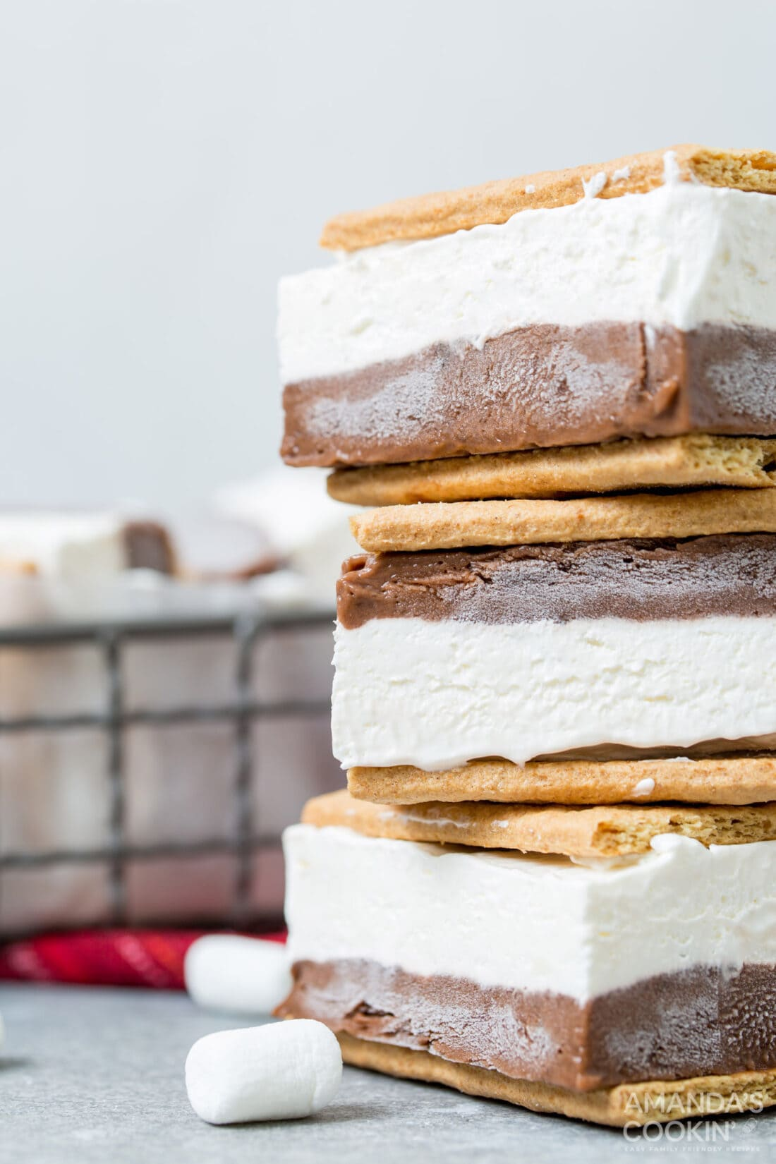 stack of frozen smores