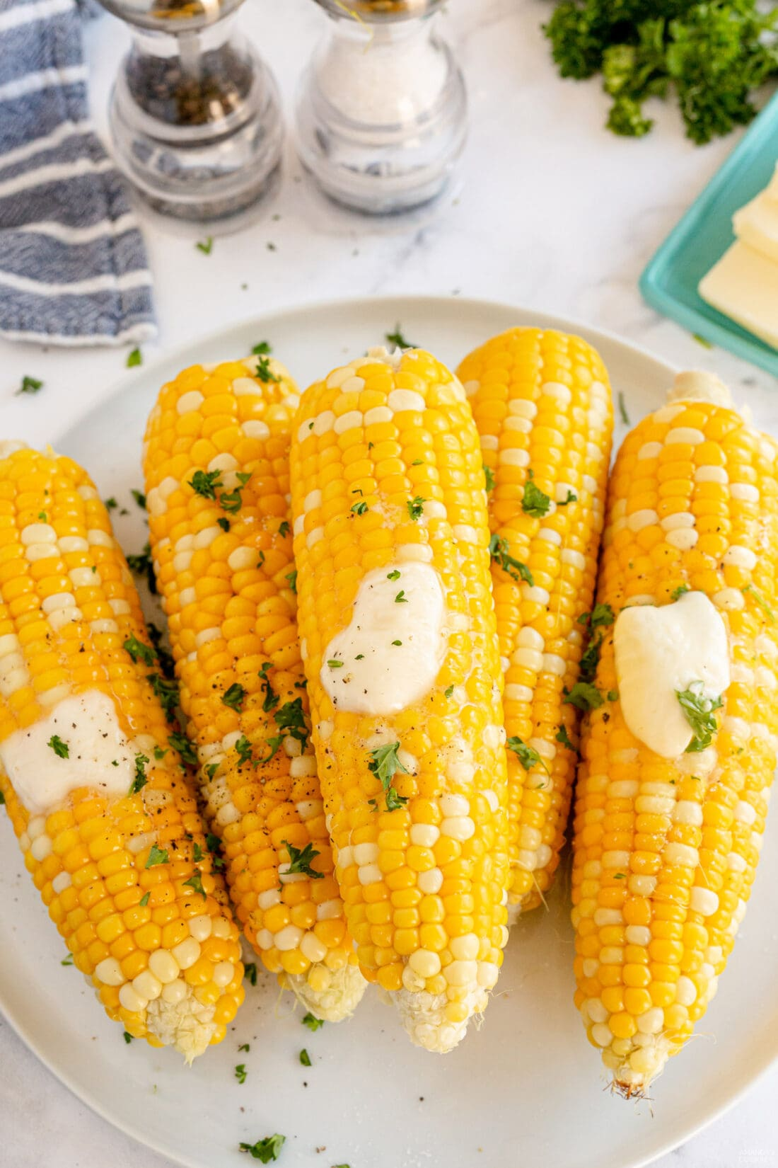 Grilled Corn on the Cob with butter