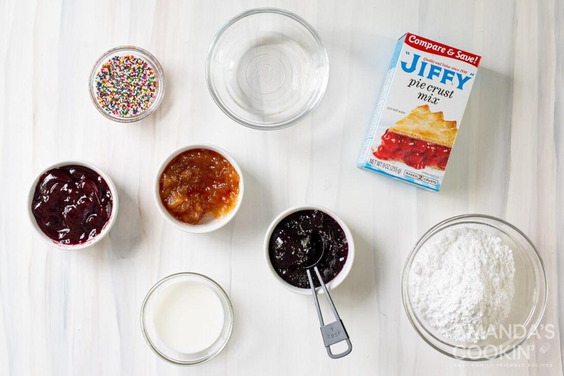 ingredients for homemade pop tarts