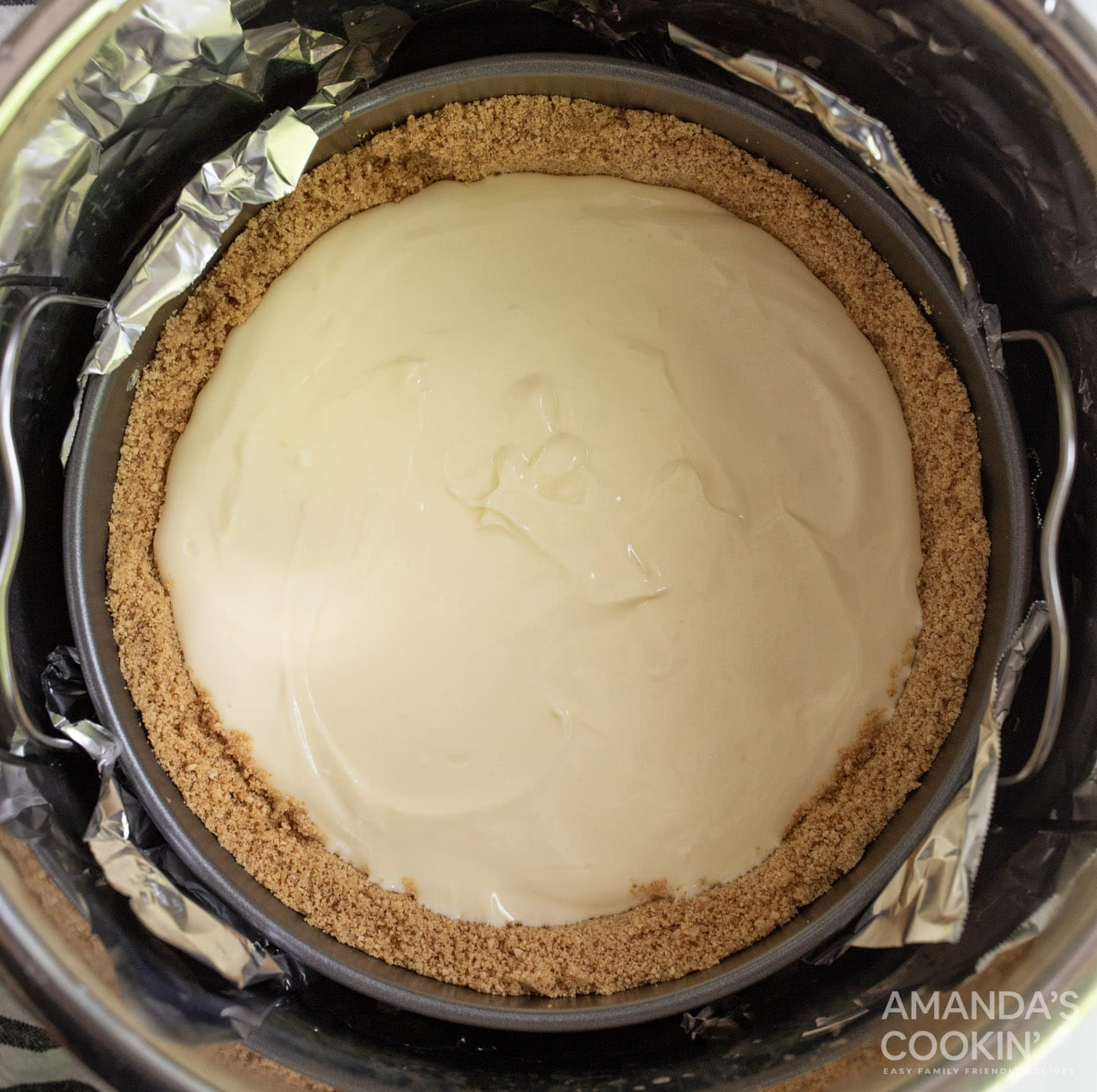 cheesecake on trivet in instant pot