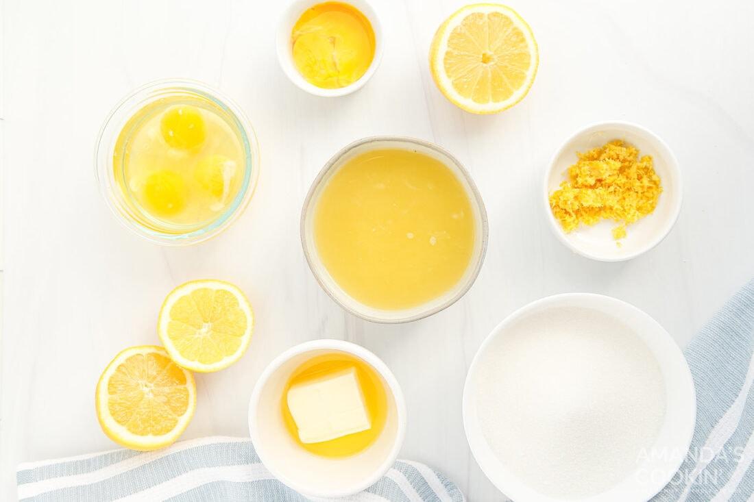ingredients needed to make lemon curd