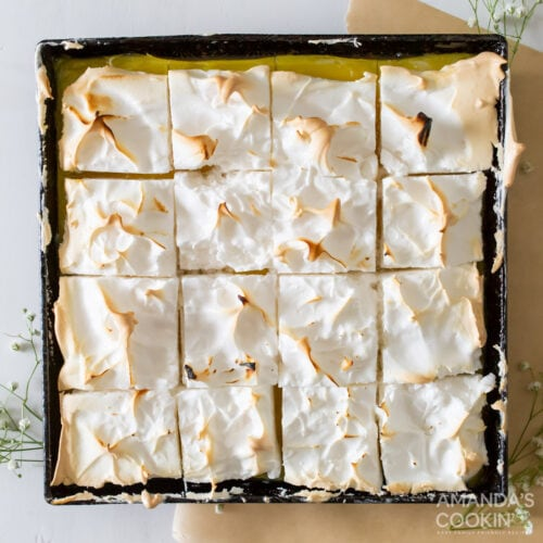 pan of Lemon Meringue Pie Bars