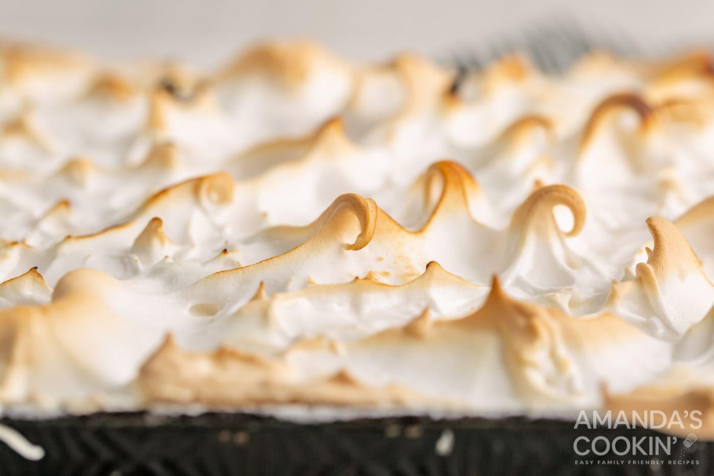 browned meringue topping