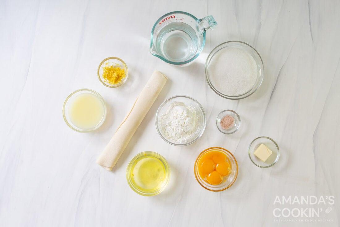 lemon meringue pie ingredients
