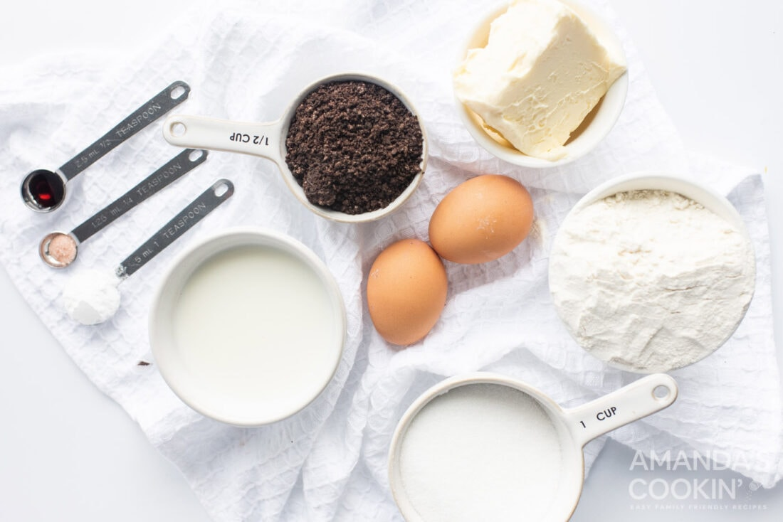ingredients needed for oreo cheesecake bars