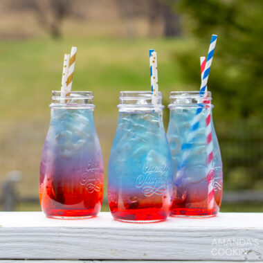 jars of july 4th layered drink
