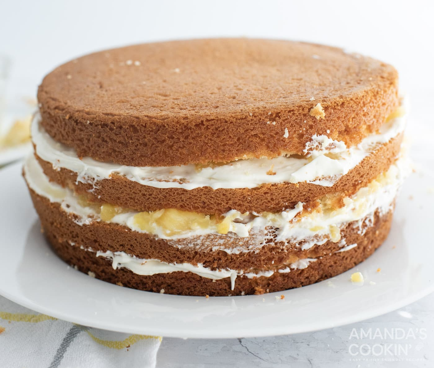 layered pineapple cake