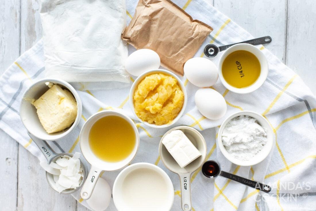 ingredients to make Pineapple Cake