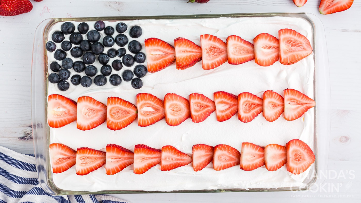 cake decorated like an american flag