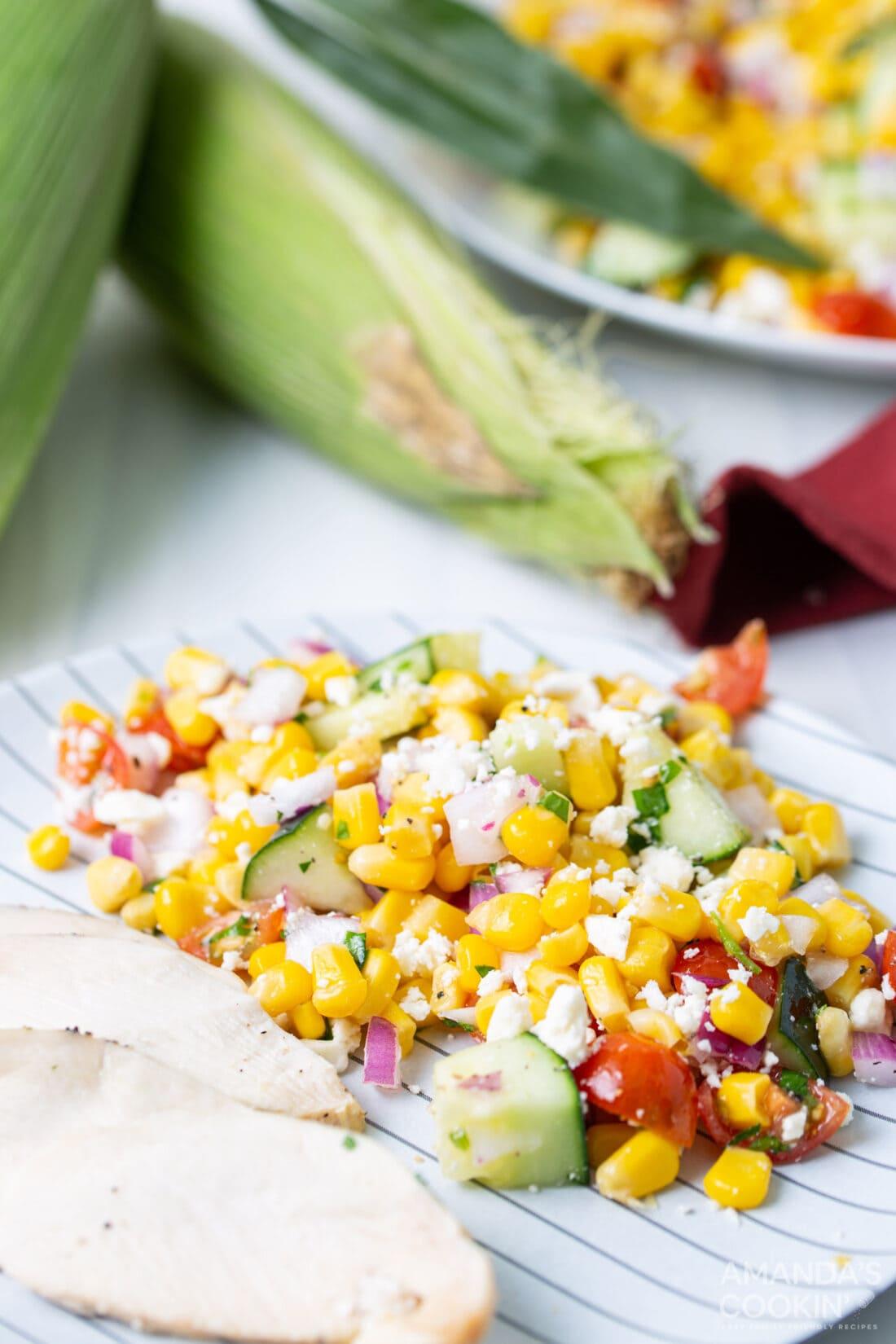Corn Salad on the side