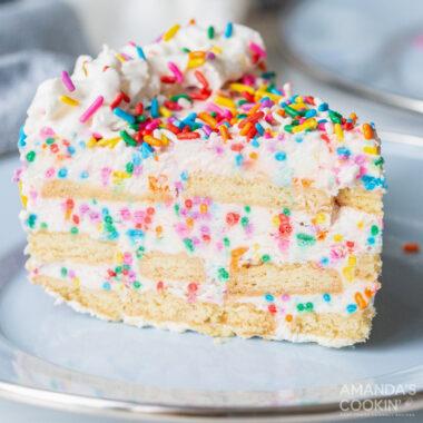 Funfetti Icebox Cake
