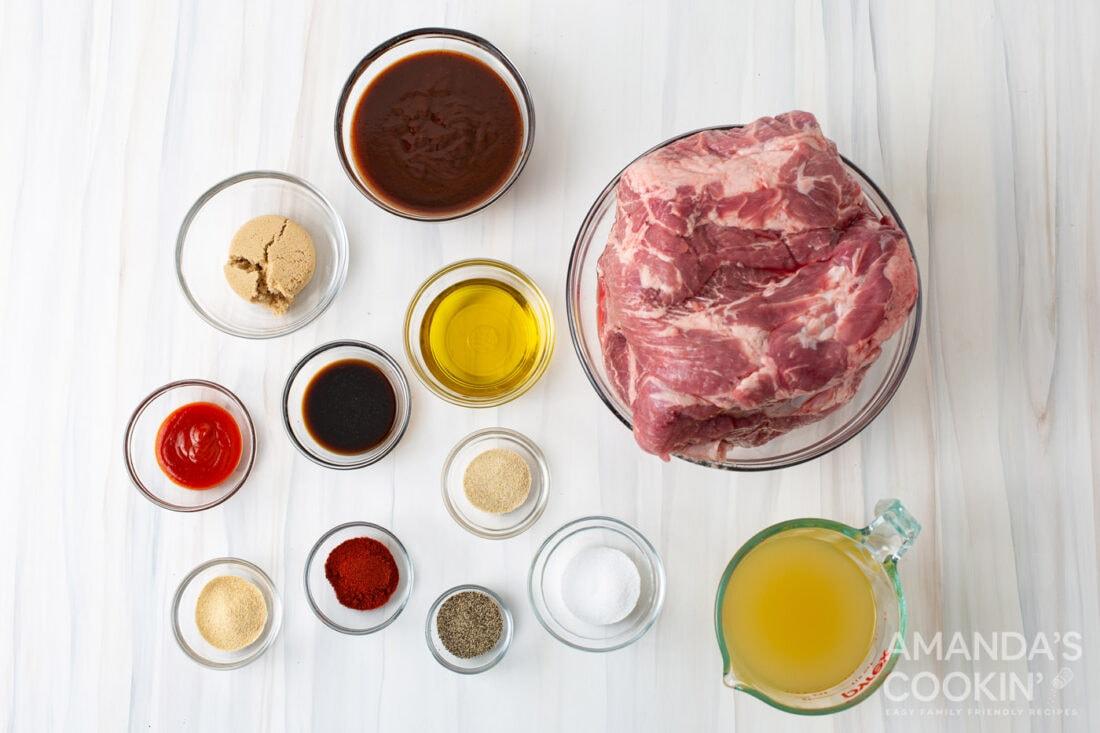 ingredients for Instant Pot Pulled Pork
