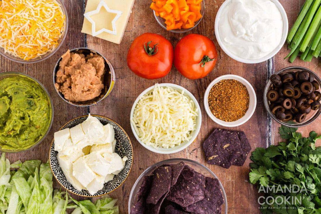 ingredients taco salad flag