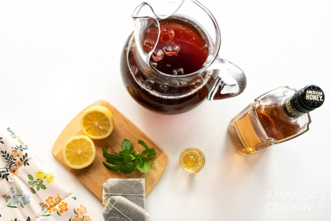 ingredients for iced tea cocktail