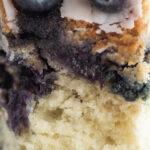 Blueberry Bundt Cake close up
