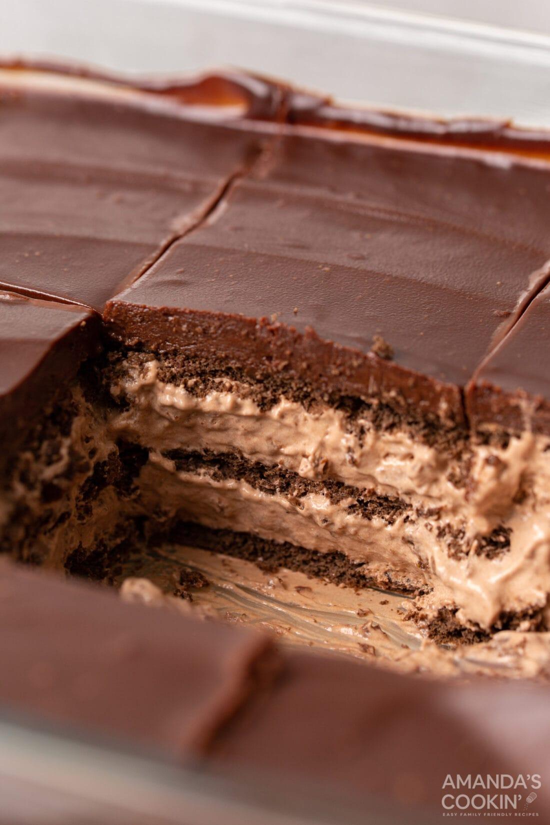 pan of Chocolate Icebox Cake