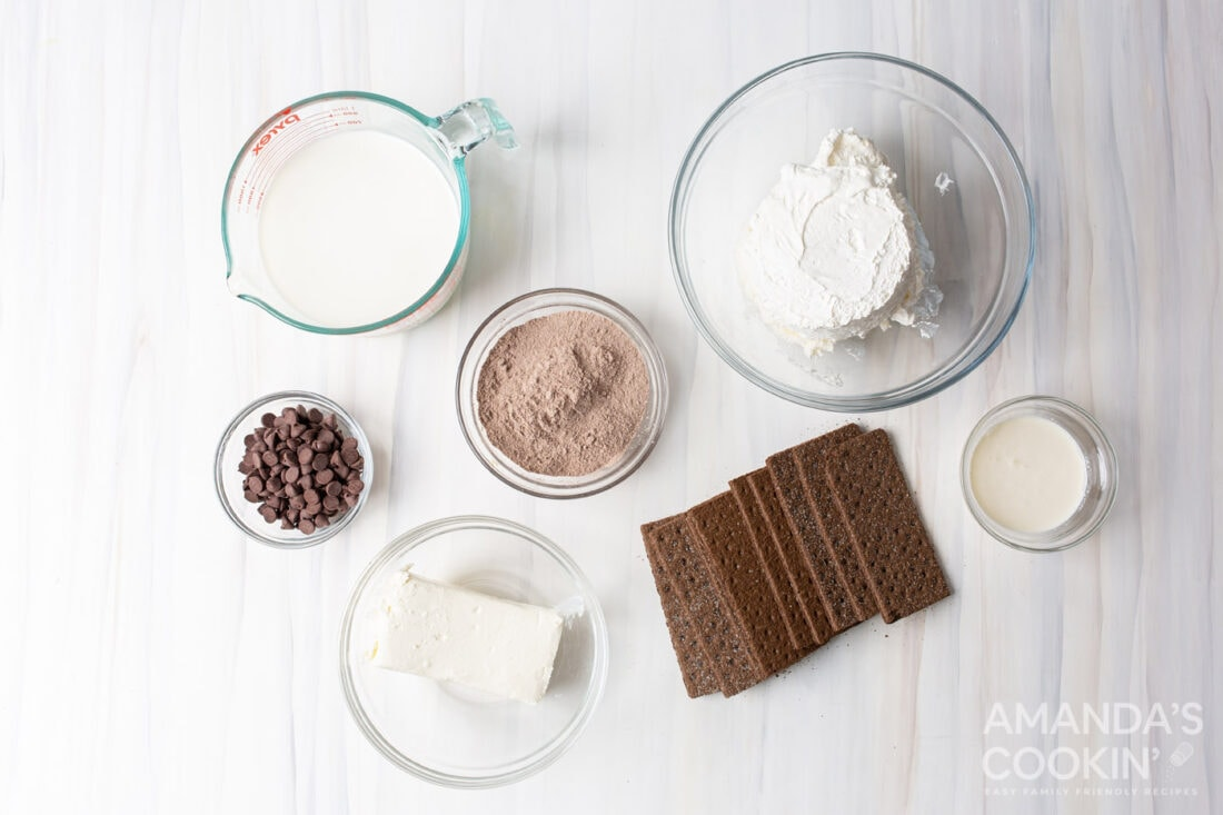 ingredients for Chocolate Icebox Cake