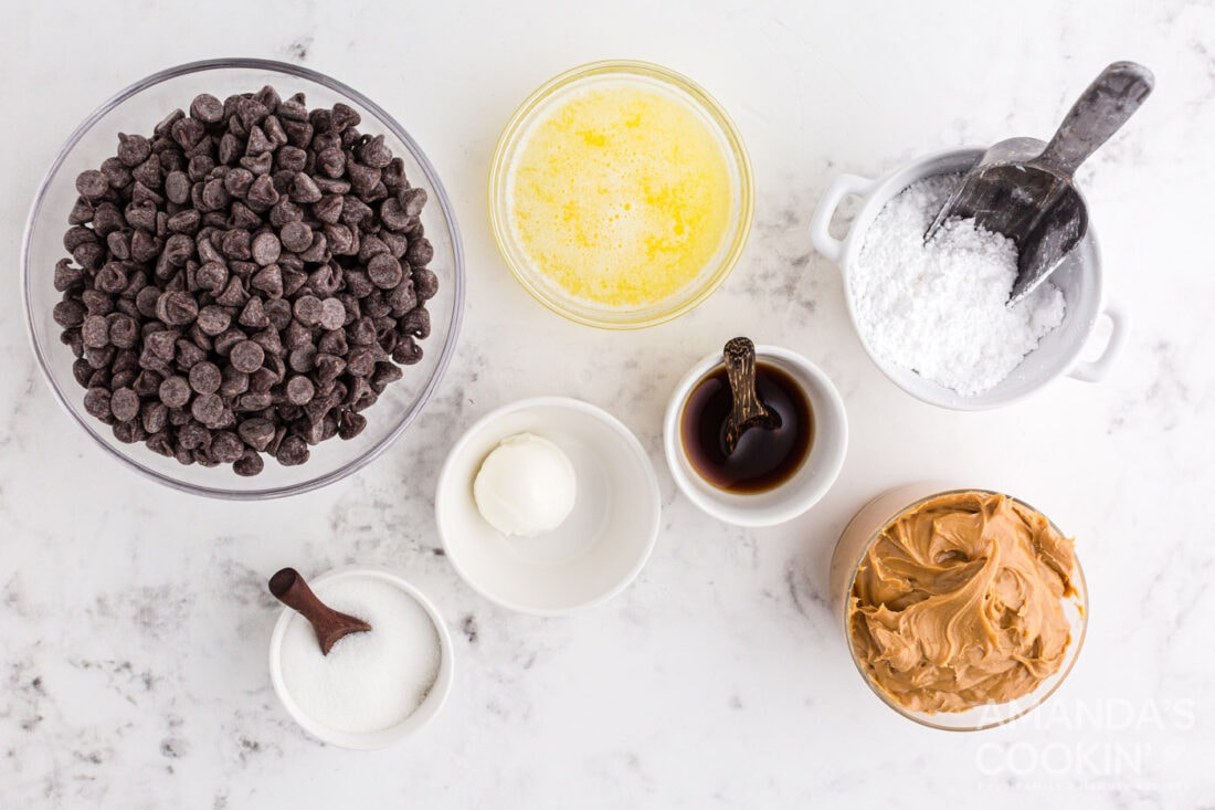 ingredients for Chocolate Peanut Butter Balls