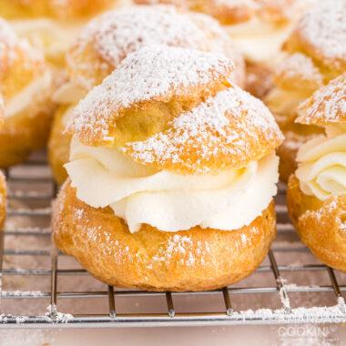close up of Cream Puff