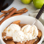 ice cream on Crockpot Cinnamon Apples