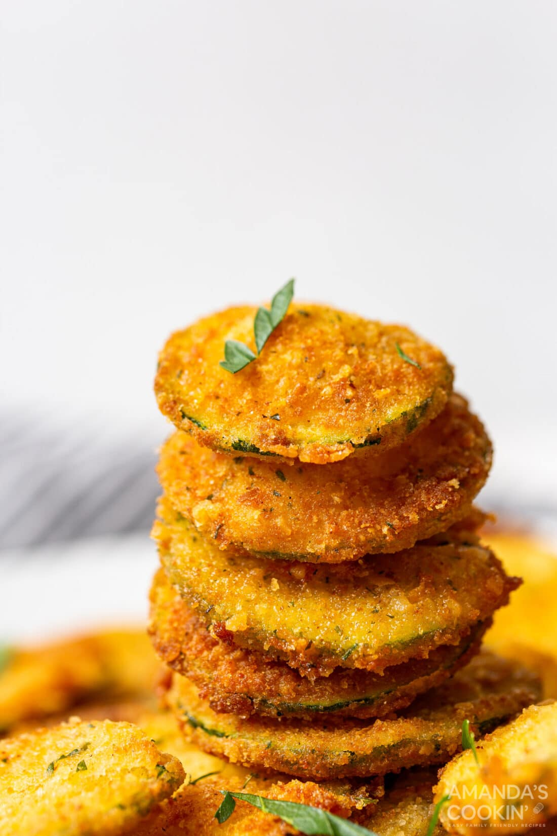 stack of Fried Zucchini