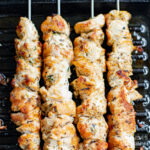 Greek Chicken Kabobs on grill
