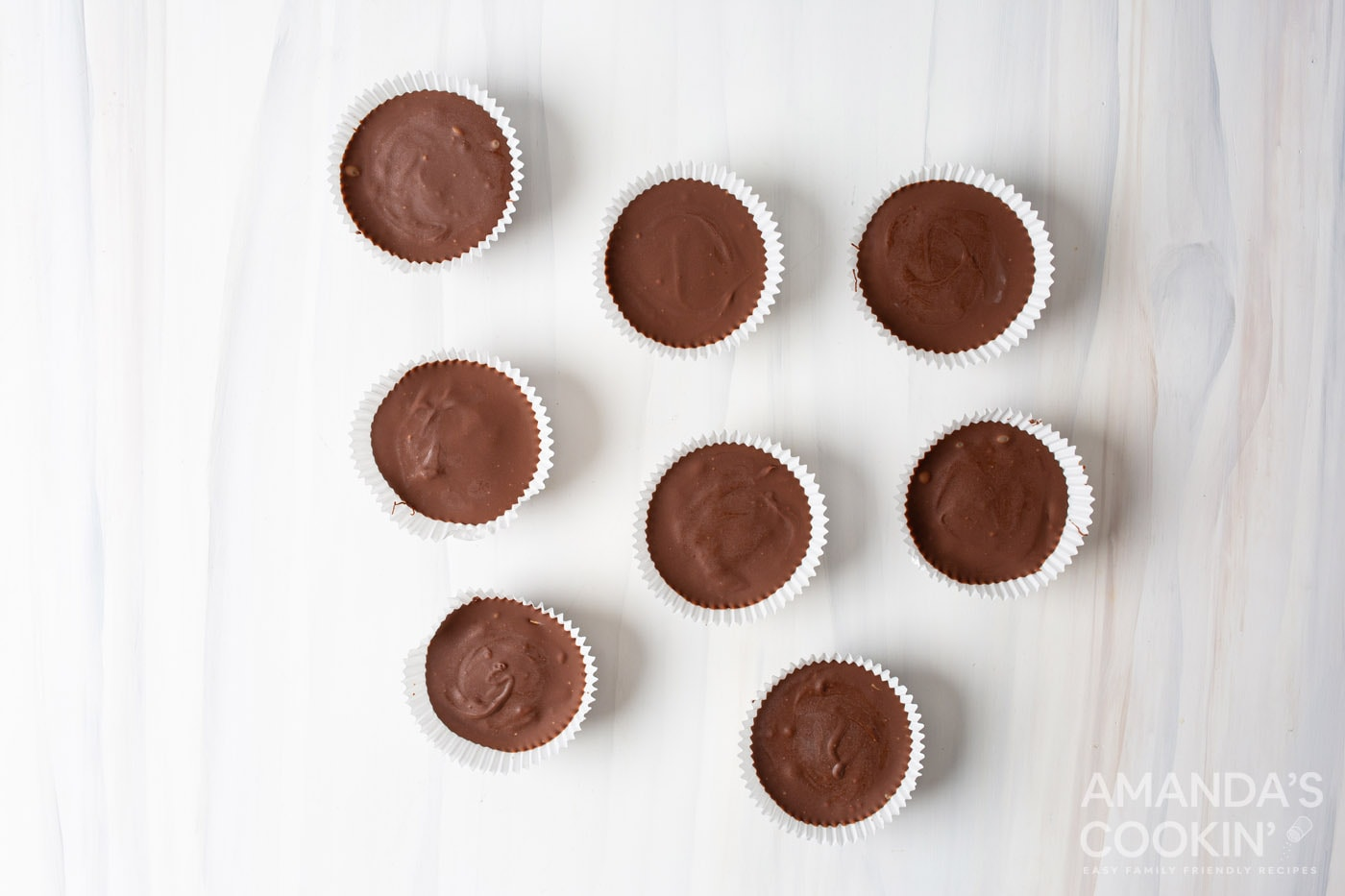 peanut butter cups in cupcake liners