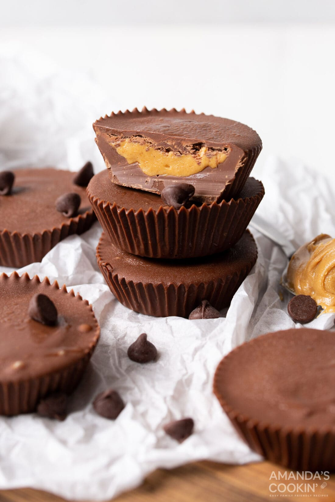 Peanut Butter Cups stacked together