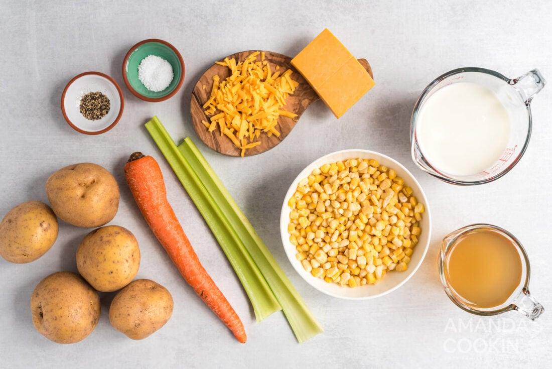 ingredients for corn chowder