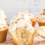apple pie cupcake with bite out of it