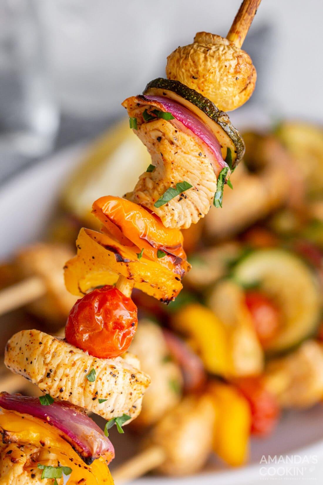 single Air Fryer Chicken Kabob