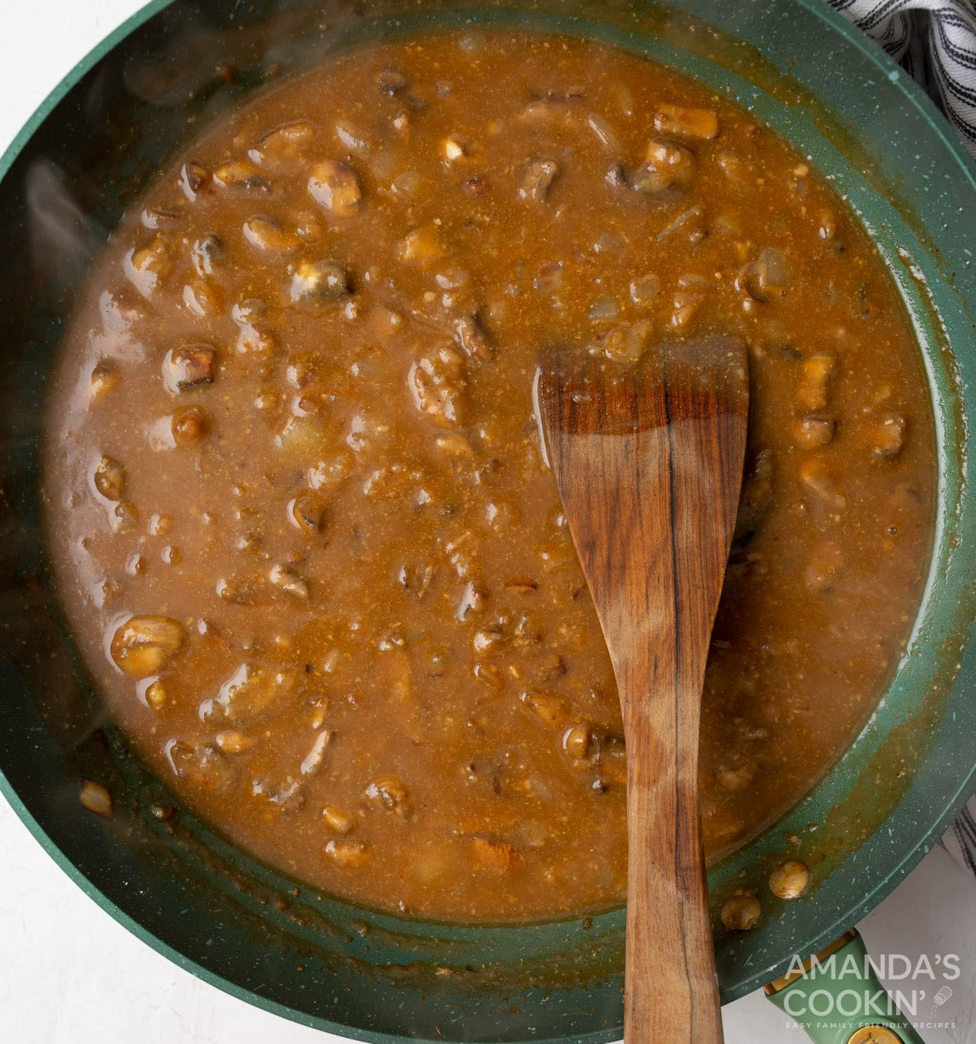 beef stock roux with mushroom and onions