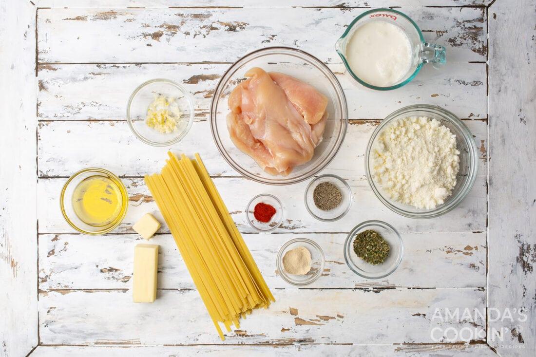 Chicken Alfredo ingredients