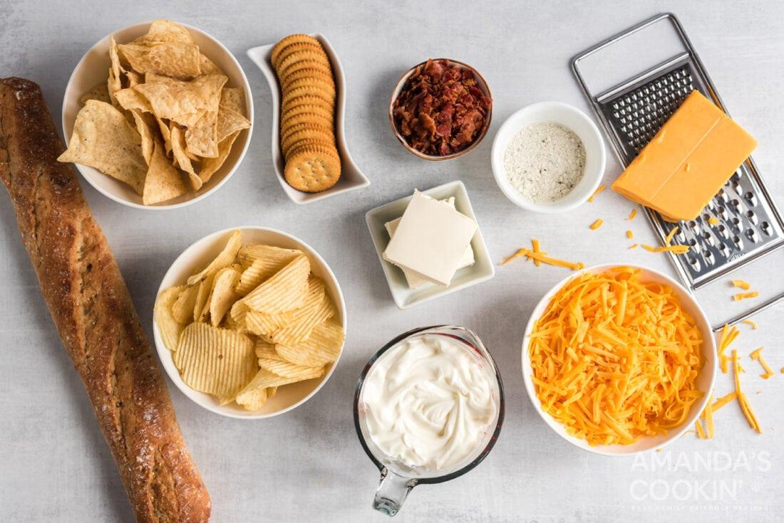 Crockpot Cheese Dip ingredients
