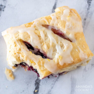 Lemon Blueberry Croissant Hand Pies with BITE OUT