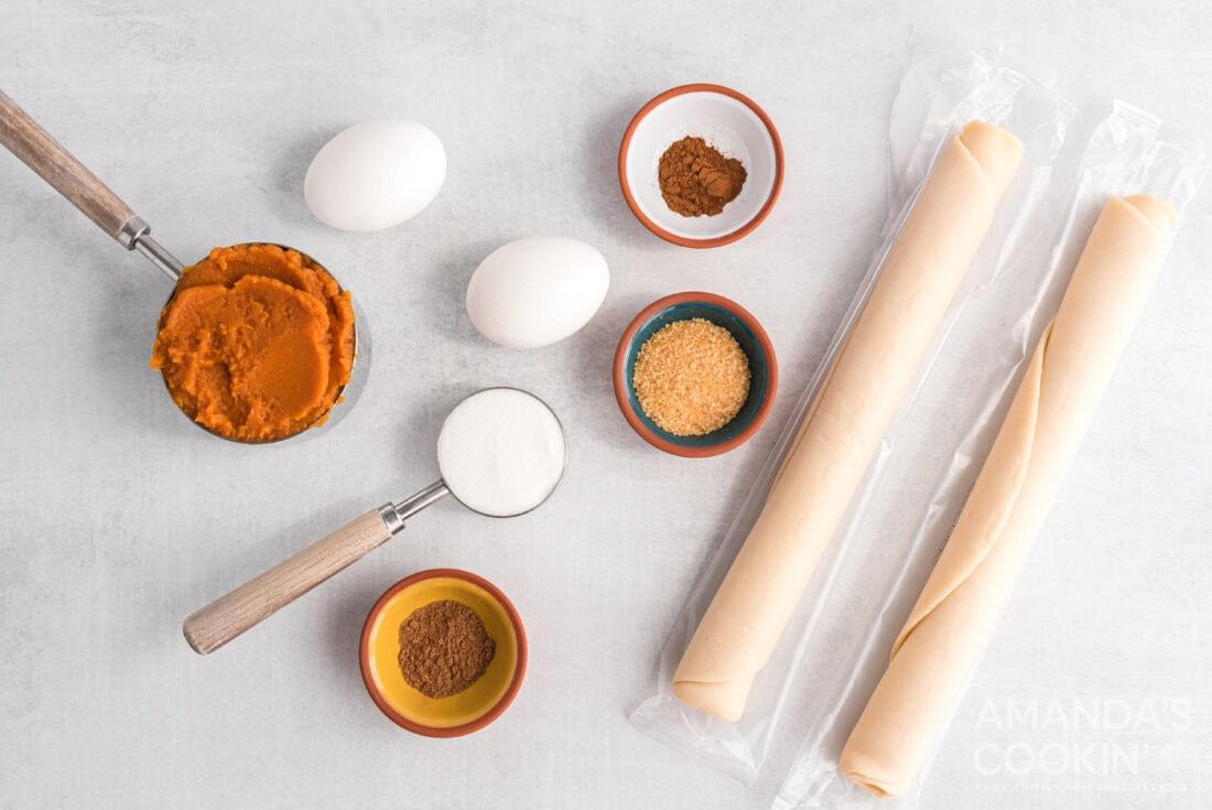 ingredients for Pumpkin Hand Pies