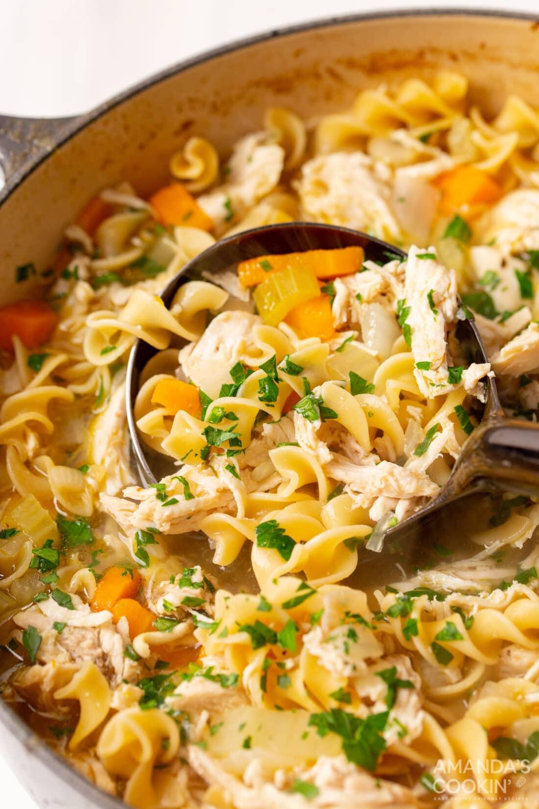 pot of Chicken Noodle Soup