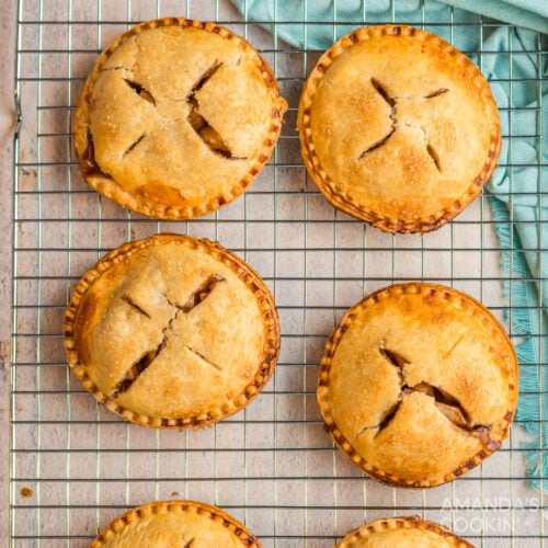 wire rack of Apple Hand Pies