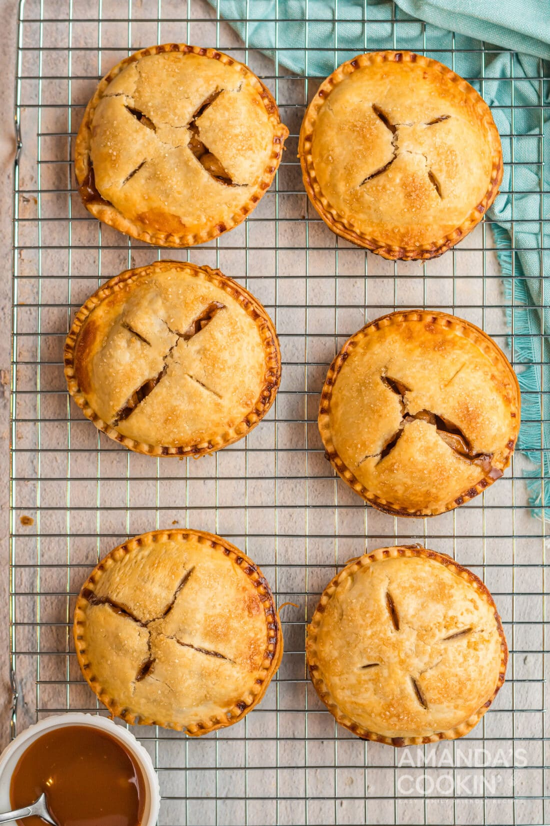 Apple Hand Pies on cooling rack
