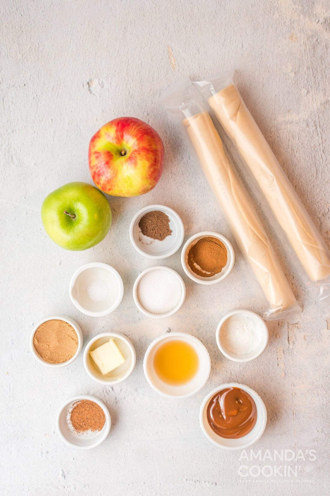 ingredients for Apple Hand Pies