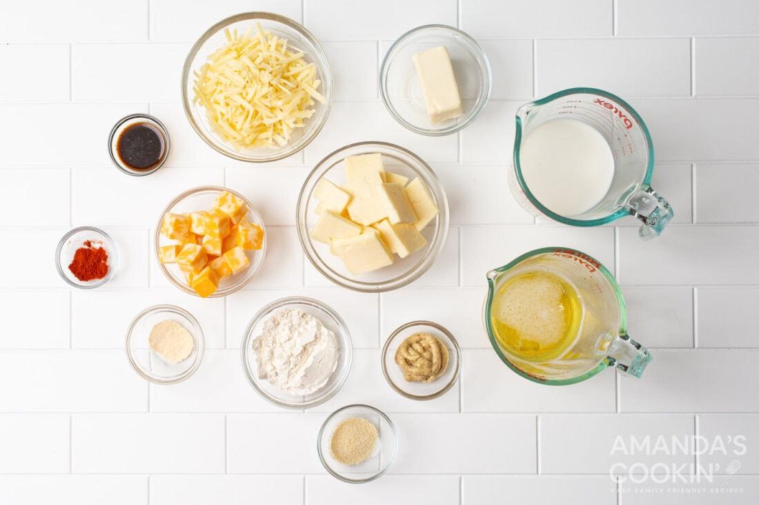 ingredients for Beer Cheese Dip