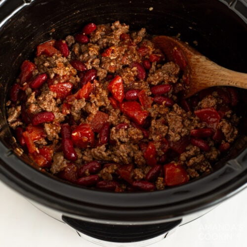 chili in the crockpot