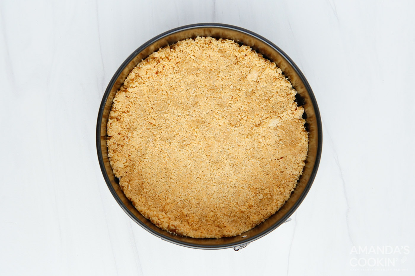 cheesecake crust in a springform pan