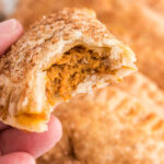 Pumpkin Hand Pie with a bite out of it
