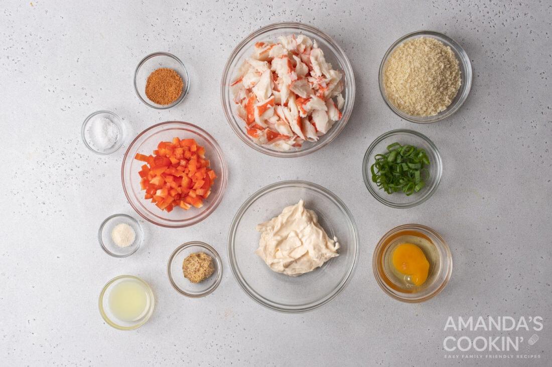 ingredients for Air Fryer Crab Cakes