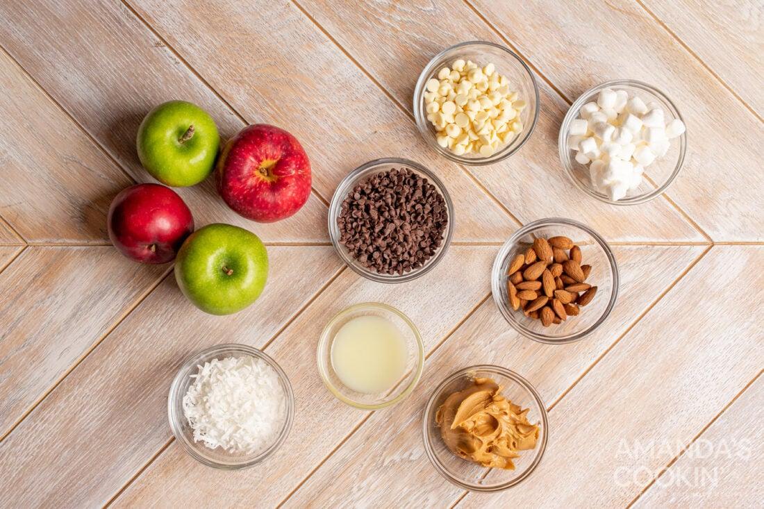 ingredients for Apple Nachos