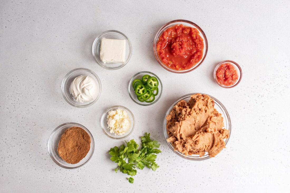 ingredients for Bean Dip