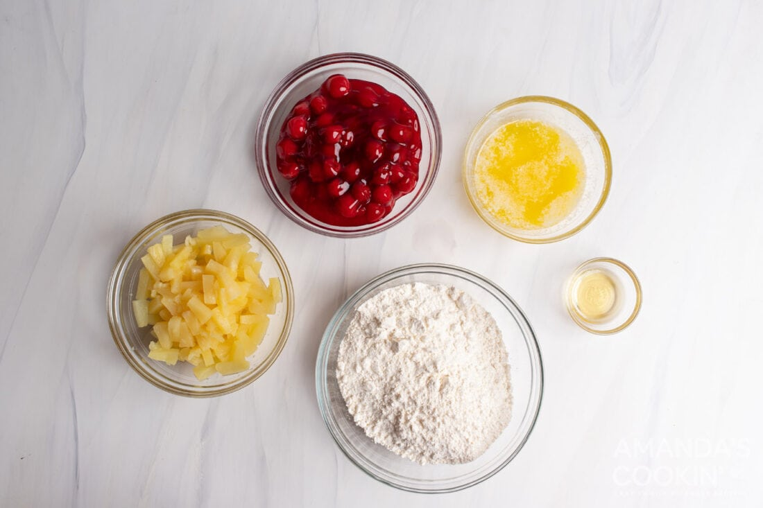 ingredients for Cherry Pineapple Dump Cake