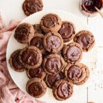 plate of Chocolate Thumbprint Cookies
