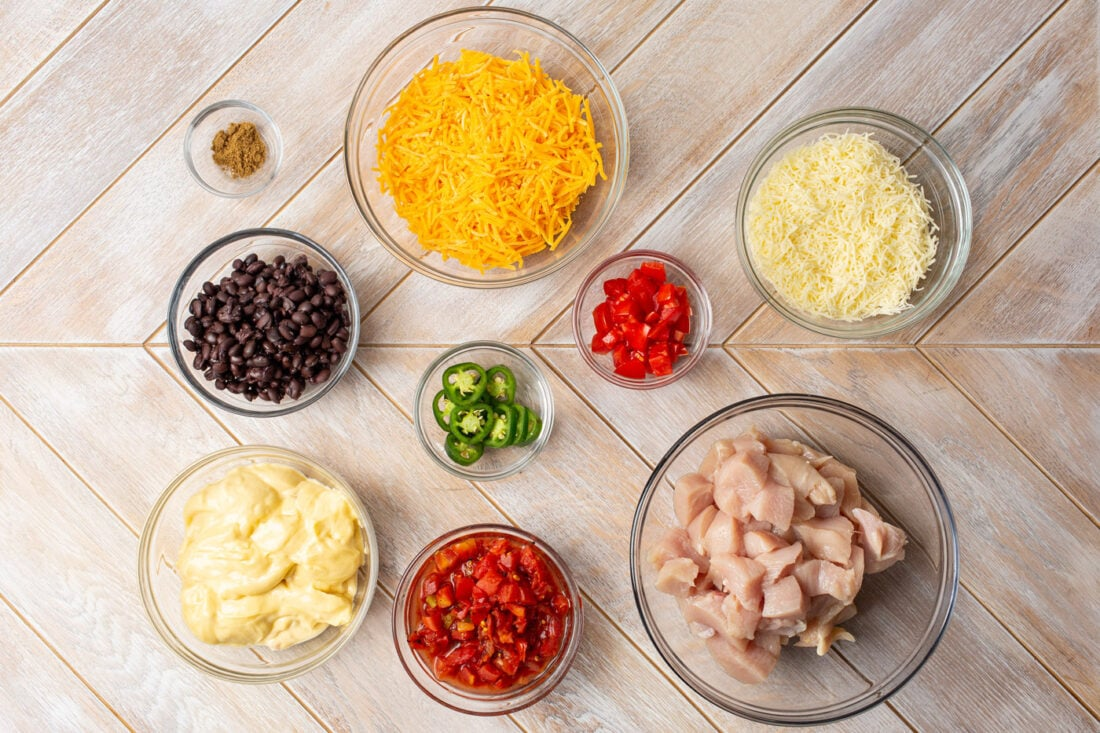 ingredients for Crockpot Mexican Chicken